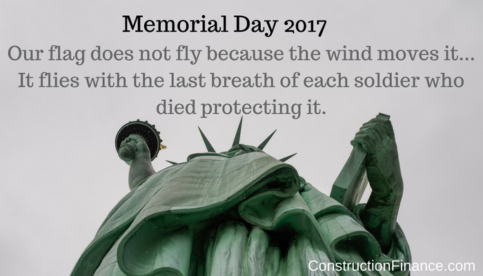 Construction Factor Memorial Day