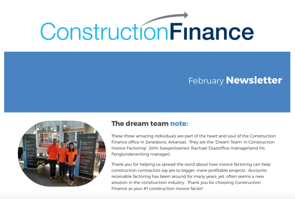 Construction Finance Dream Team