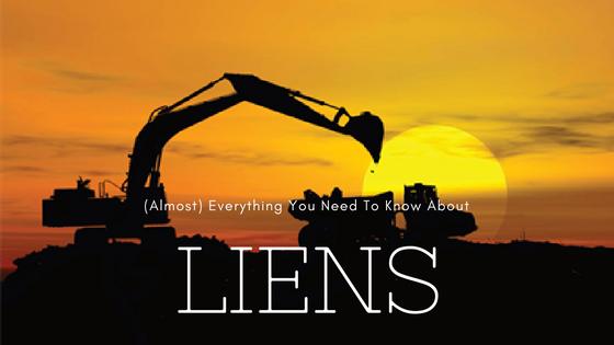 construction finance mechanics lien rights