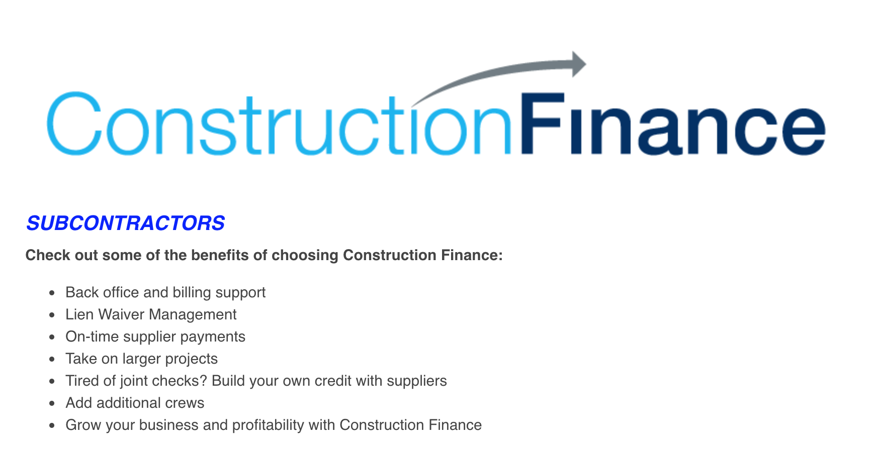 construction factoring