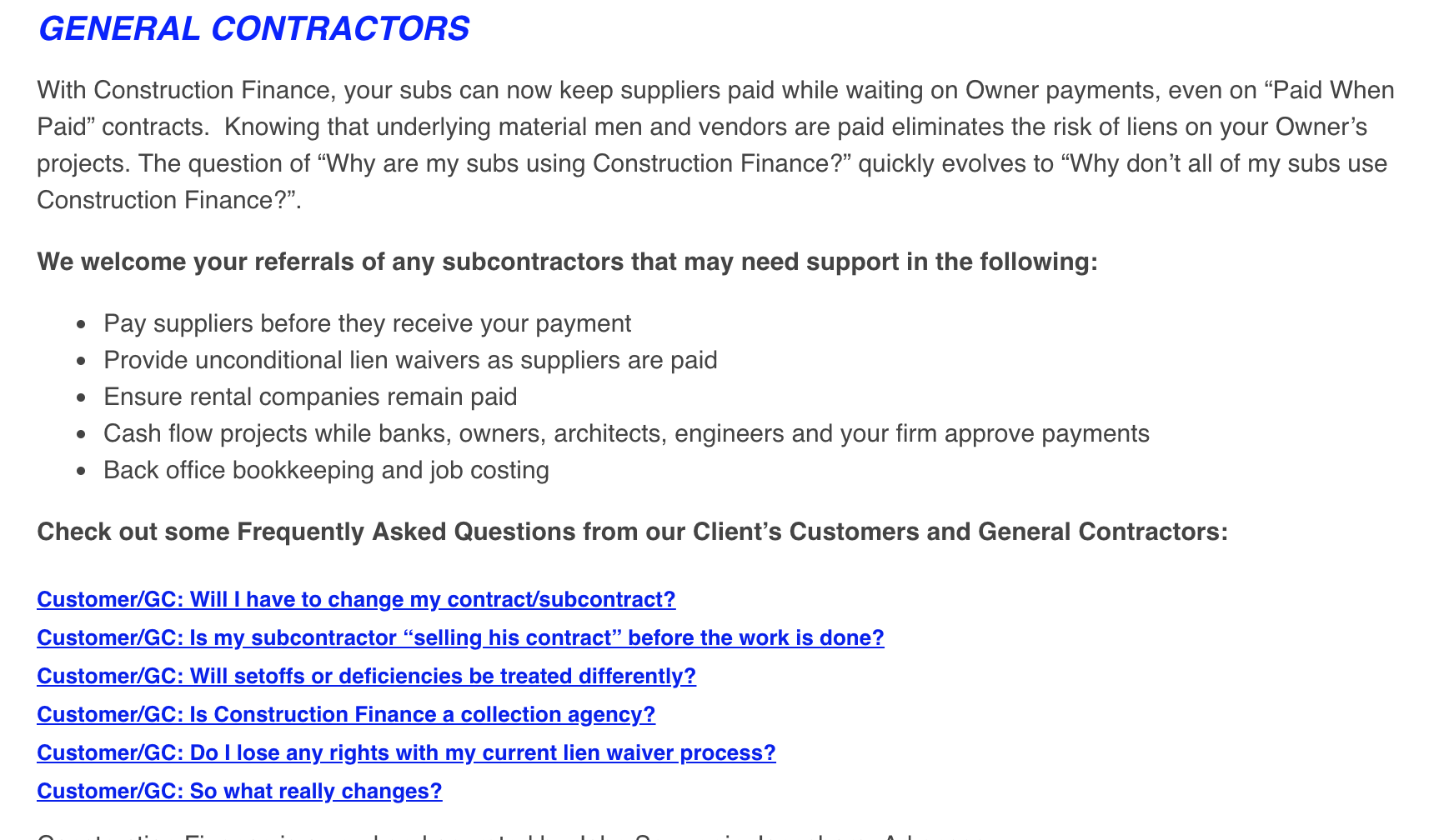 construction accounts receivable factoring