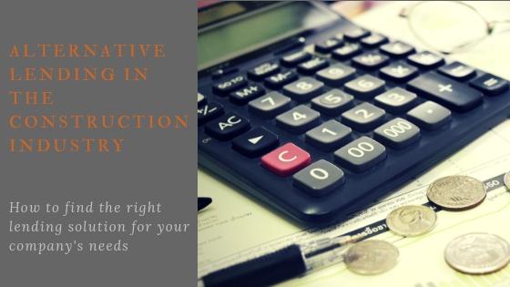 Construction Finance alternative lending